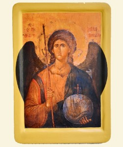 THE ARCHANGEL MICHAEL Greek icon (XIV th.)