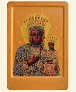 Це копiя чудотворної iкони Гошiвської Божої Матерi (XVII cт.)