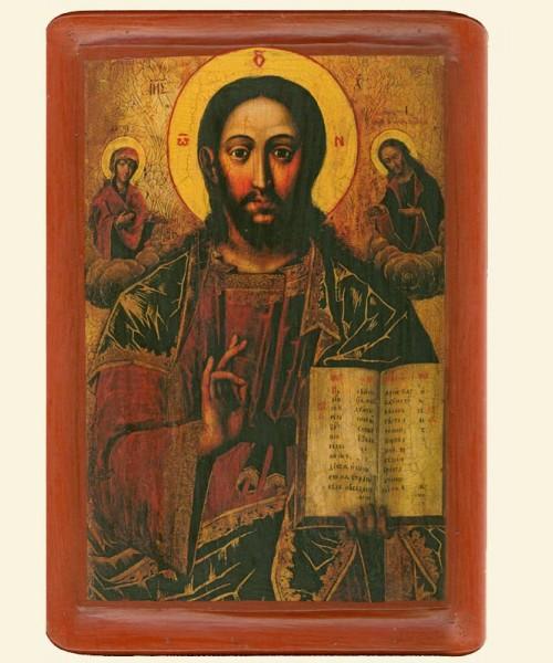 Христос Вседержитель у композицiї Деiсус, (XVIII ст.)