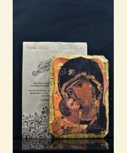 """Фреска """"фрагмент Вишгородської (Володимирівської) Богородиці"""""""